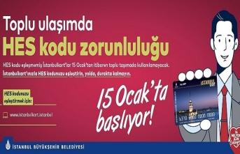 İstanbul'da Ulaşım İçin HES Kodu Zorunlu Hale Geliyor