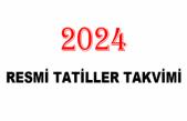 2024 Resmi Tatiller Takvimi