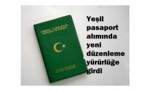 Yeşil pasaport alımında yeni düzenlemeler yapıldı