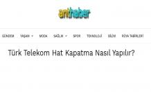 Türk Telekom Hat Kapatma