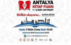 10. Antalya Kitap Fuarı Kapılarını Açıyor