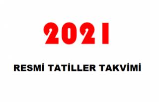 2021 Resmi Tatiller Takvimi