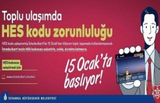 İstanbul'da Ulaşım İçin HES Kodu Zorunlu...