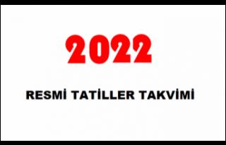 2022 Resmi Tatiller Takvimi