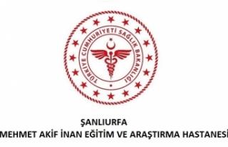 Şanlıurfa Mehmet Akif İnan Eğitim ve Araştırma...