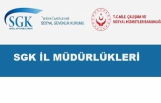 SGK İl Müdürlükleri