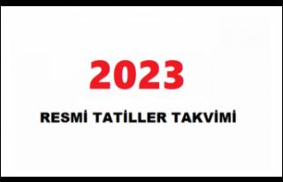 2023 Resmi Tatiller Takvimi