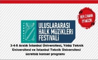 Uluslararası Halk Müzikleri Festivali Üniversite konserleri programı