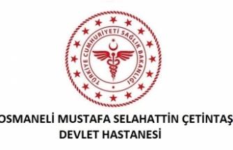 Osmaneli Mustafa Selahattin Çetintaş Devlet Hastanesi