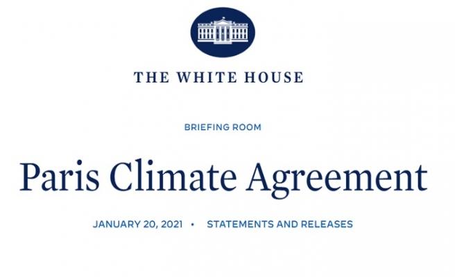 ABD Yeniden Paris İklim Anlaşması Tarafı Oluyor